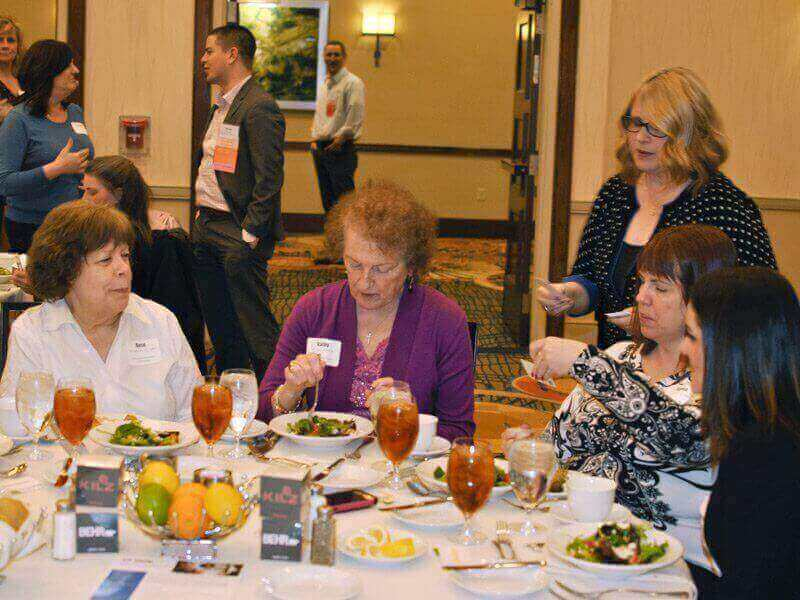 March 2018 Chapter Luncheon Photos - Rose Sapoznick, Kathy Dietz, Holly Davidson, and Dianna Kaspar