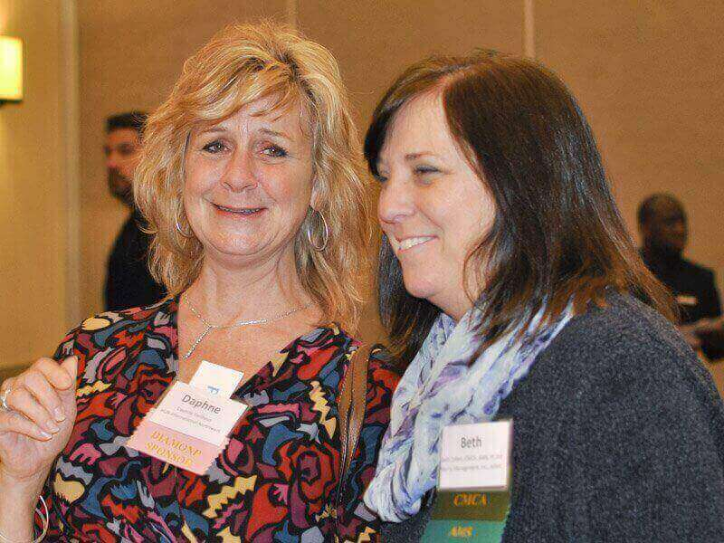 March 2018 Chapter Luncheon Photos - Daphnbe Gellhaus & Beth Zollars, PCAM. Thank you Morris Management, Inc., AAMC!
