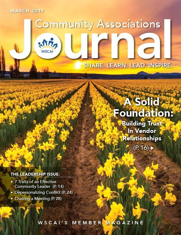 Community Associations Journal Cover - March 2019 Issue