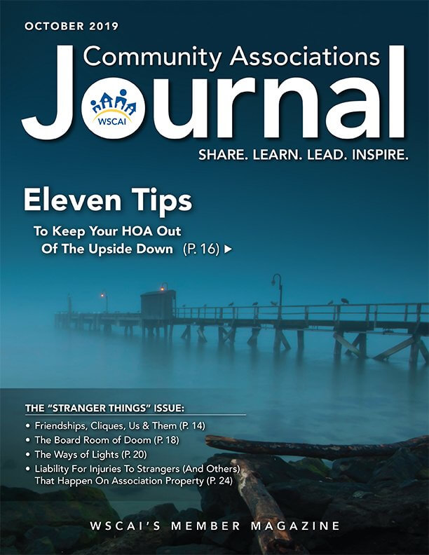 Community Associations Journal - October 2019 Issue - Cover