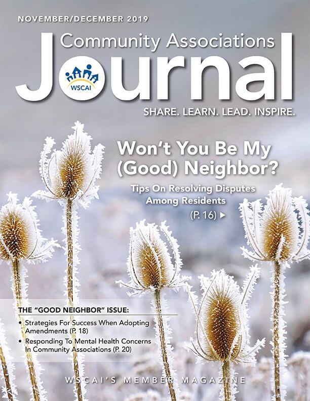 Community Associations Journal - November/December 2019 Issue - Cover Thumbnail