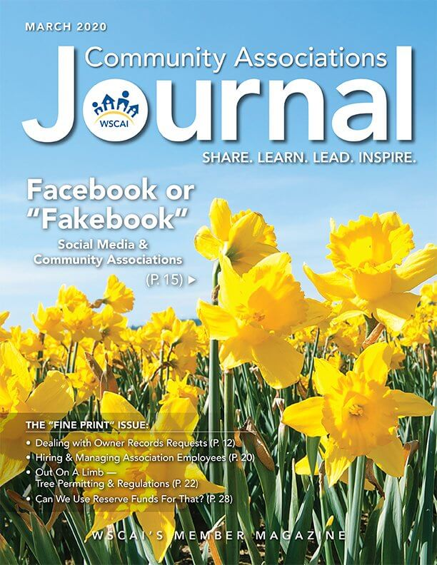 Community Associations Journal - March 2020 Issue - cover