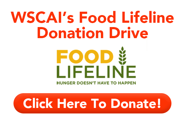 WSCAI's Food Lifeline Donation Drive - Click Here to Donate!