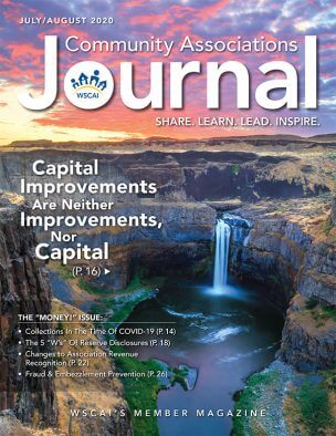 Community Associations Journal -July/August 2020 Issue - Cover
