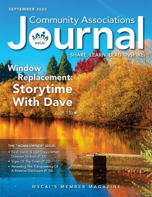 Community Associations Journal - September 2020 Issue - Cover