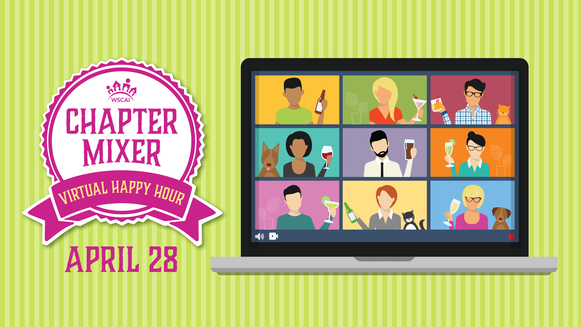 Chapter Mixer - Virtual Happy Hour - April 28, 2021