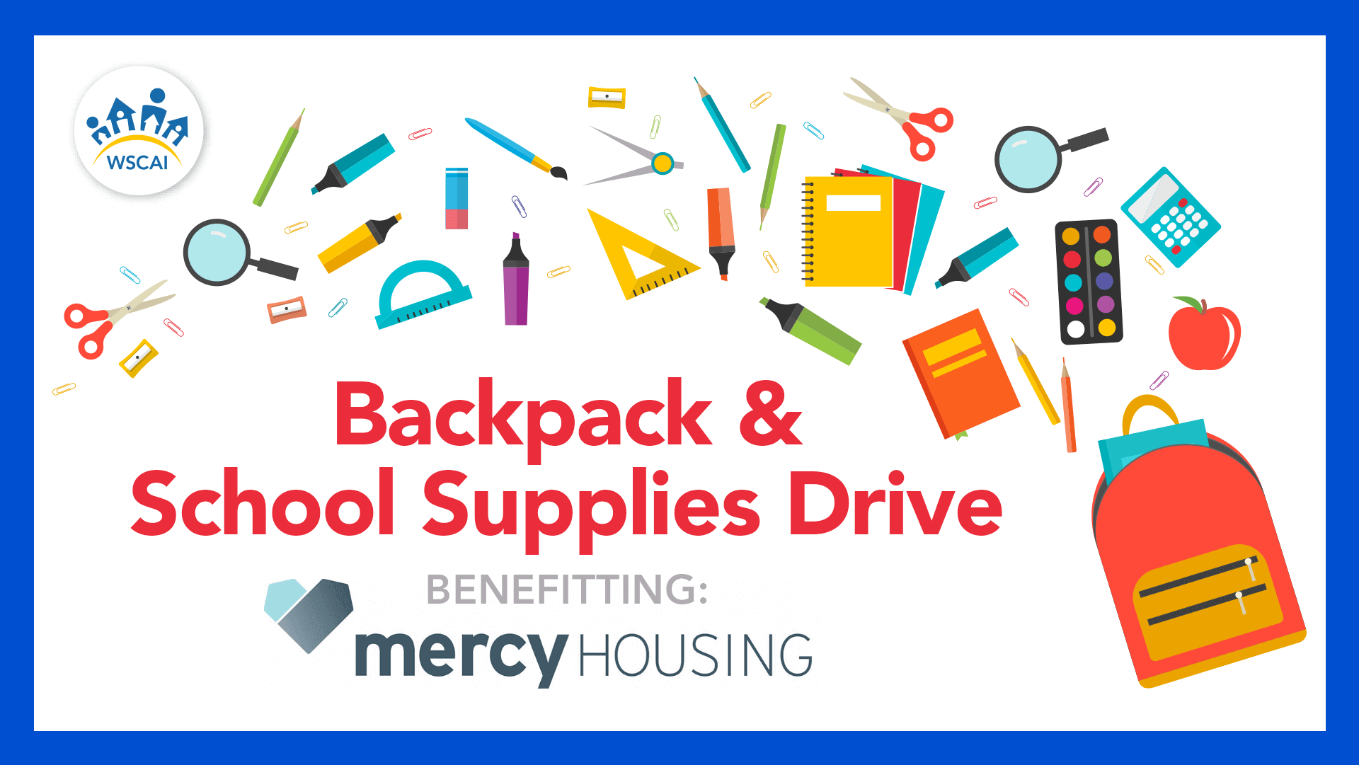 Backpack & School Supplies Drive - Benefitting Mercy Housing NW - Desktop Image