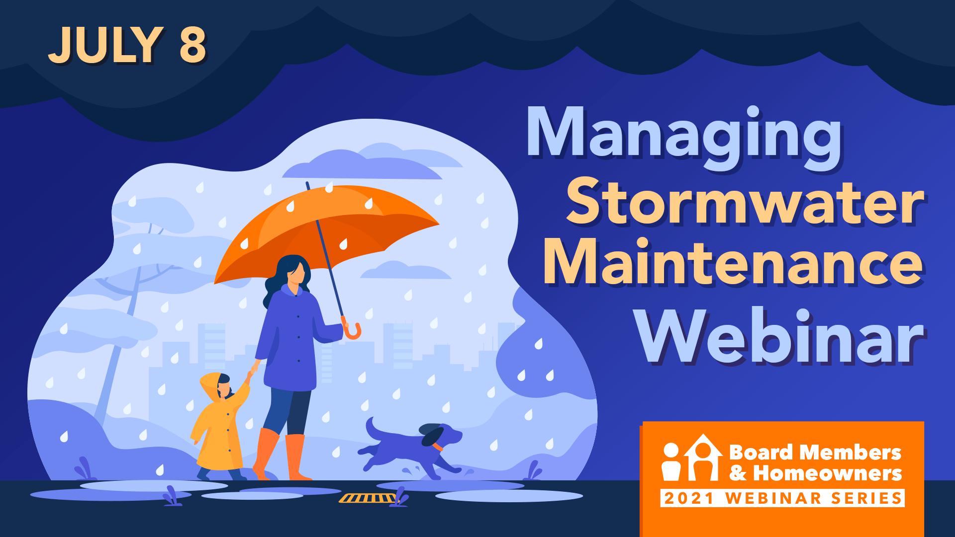 Managing Stormwater Maintenance Webinar